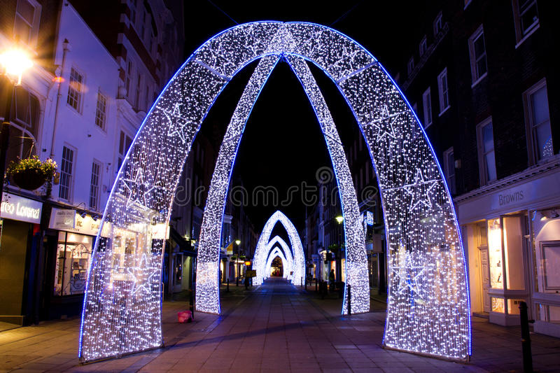 Weihnachtsdekorationen, London stockfotografie