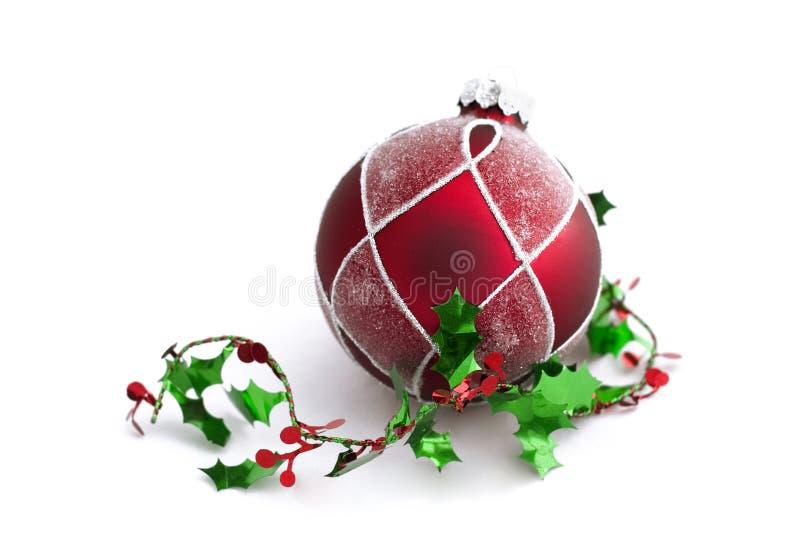 Weihnachtsdekorationen mit freiem Platz lizenzfreies stockfoto