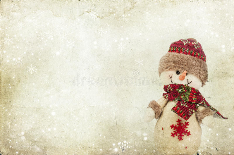 Download Weihnachtsdekorationen Mit Schneemann Stockfoto - Bild von festlich, traum: 47100038