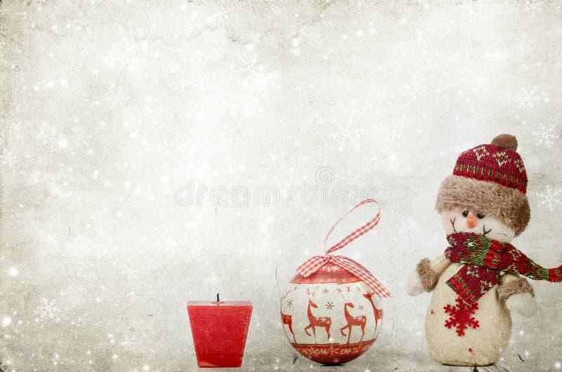 Download Weihnachtsdekorationen Mit Schneemann Stockfoto - Bild von stimmung, dekoration: 47100056