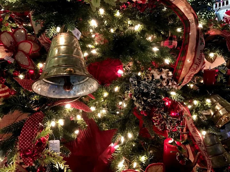 Weihnachtsdekorationen, Nordpol, Oklahoma City stockfotografie