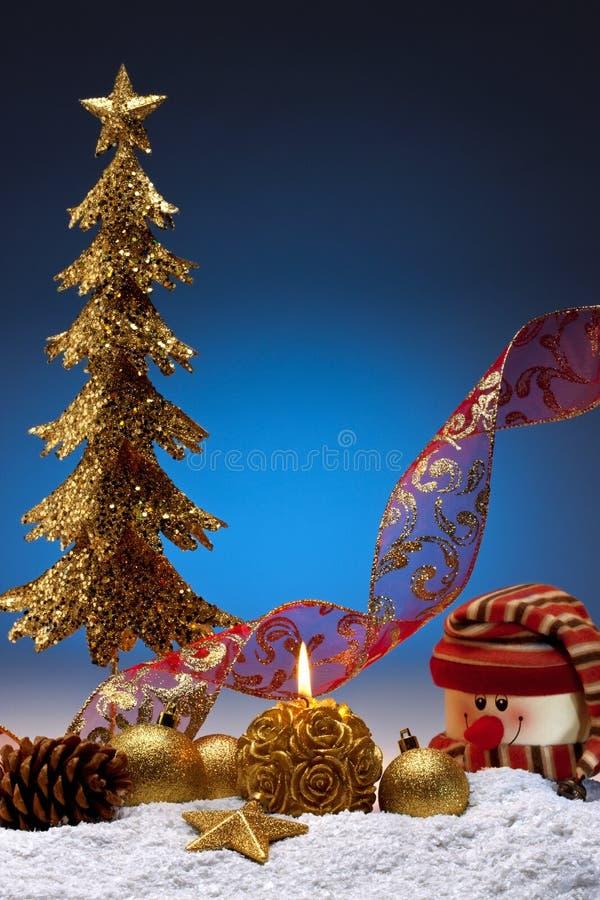 Weihnachtsdekorationen - Platz für Exemplar stockbilder