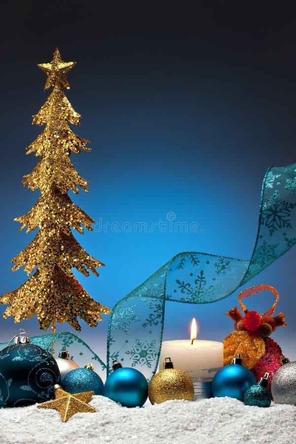 Weihnachtsdekorationen - Platz für Exemplar lizenzfreies stockfoto
