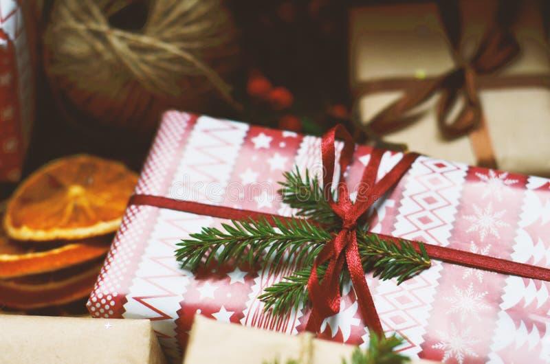 Weihnachtsdekorationen während der Ferienzeit stockfoto