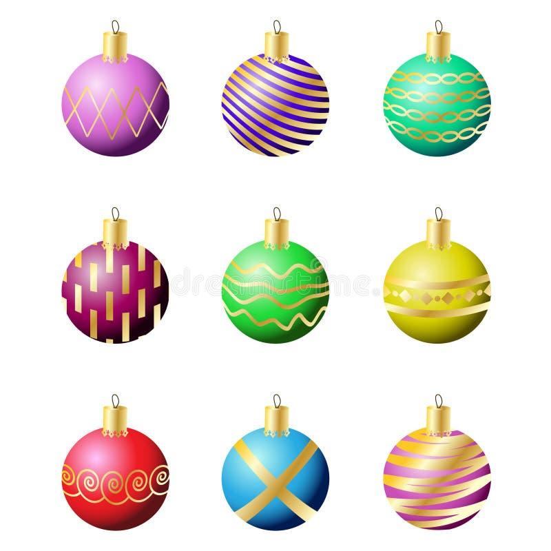 Weihnachtsdekorationkugeln stockfotos