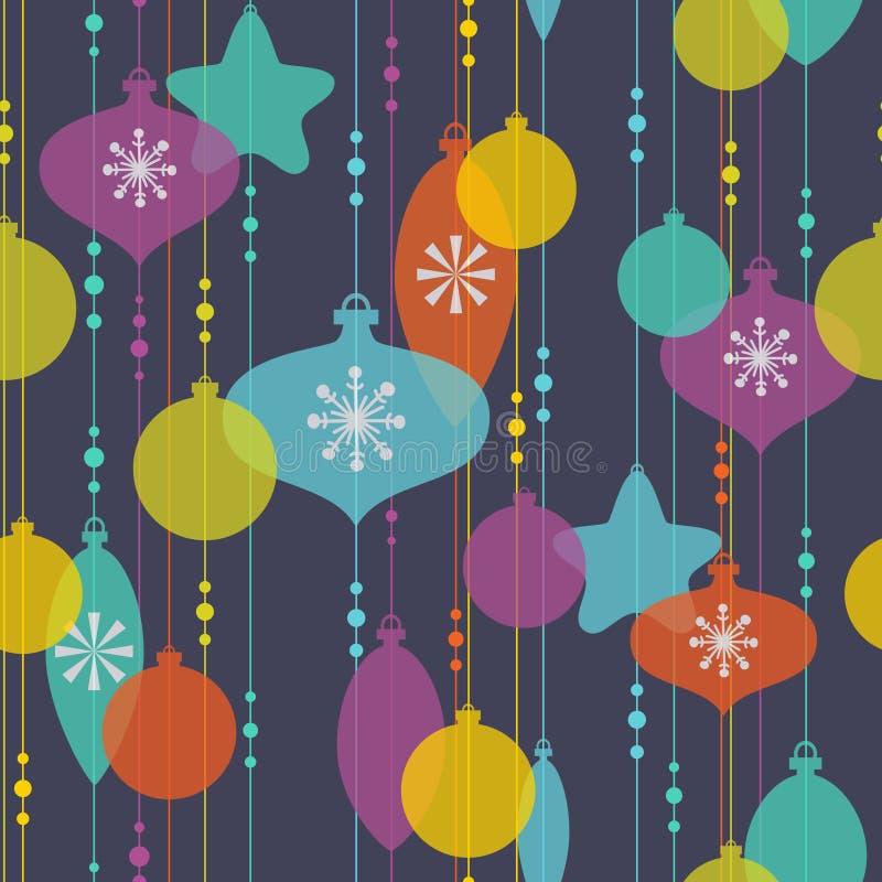Weihnachtsdekorationmuster stock abbildung