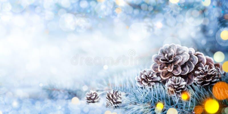 Weihnachtsdekorations-Fahne lizenzfreies stockfoto