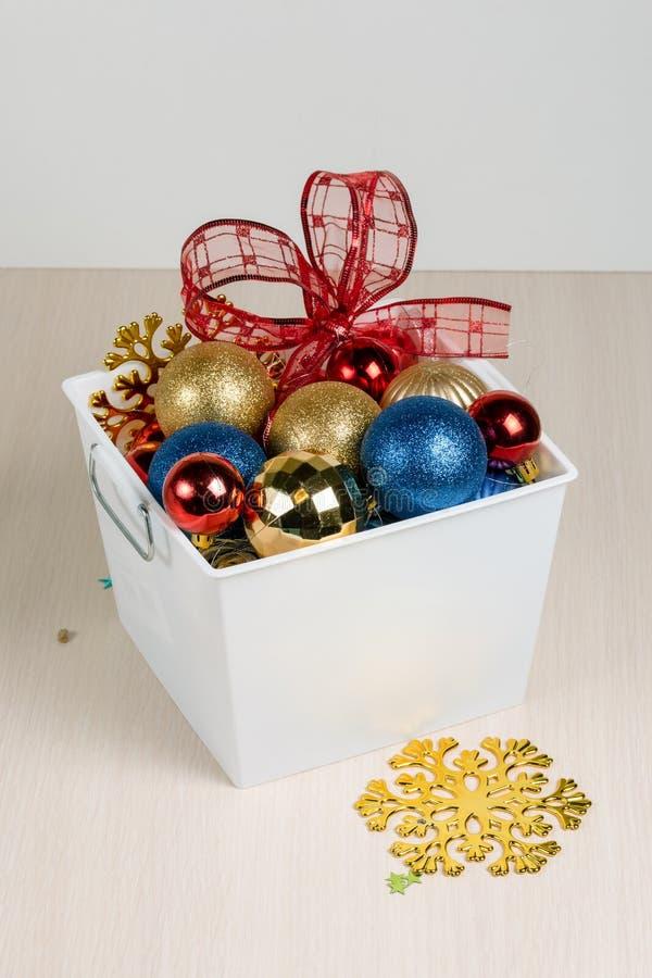 Weihnachtsdekorationslage stockfotos