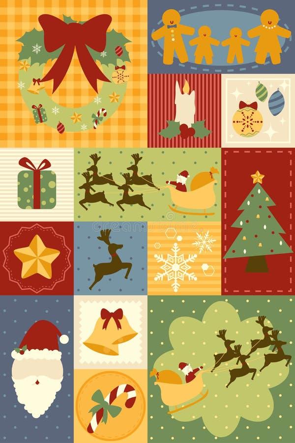 Weihnachtsdekorationtapete Stockfoto