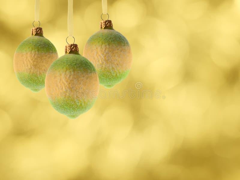 Weihnachtsdekorationzitronen stockfotografie