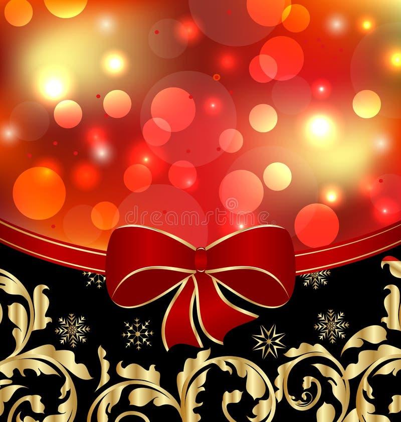 Weihnachtsdekorative mit Blumendekoration stock abbildung