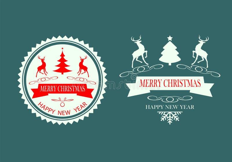 Download Weihnachtsdesignschattenbild-Rensatz Vektor Abbildung - Illustration von schneeflocke, text: 96930174