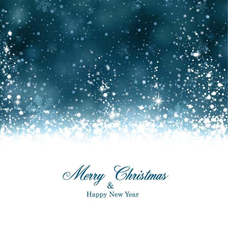 Weihnachtsdunkelblauer abstrakter Hintergrund. vektor abbildung