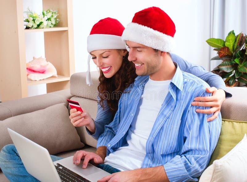 Weihnachtse-einkaufen stockbild