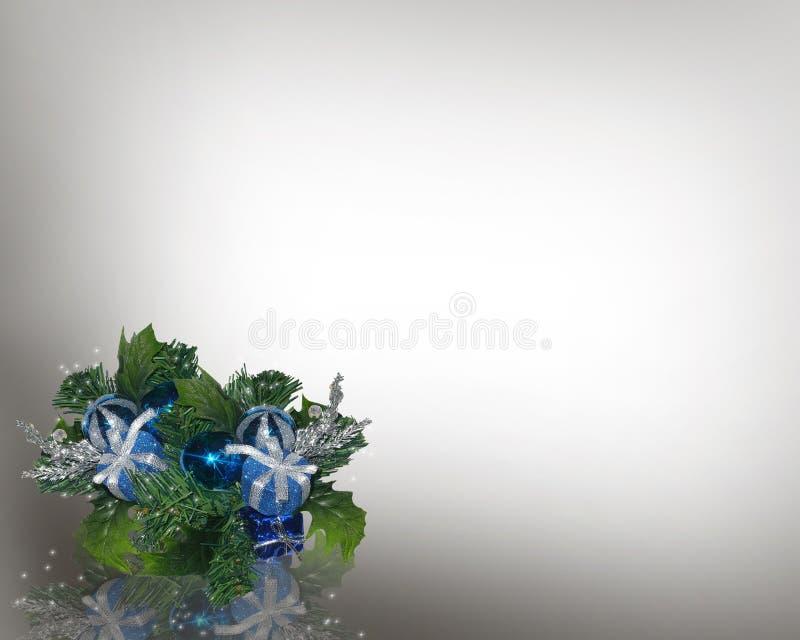 Weihnachtseckblau stock abbildung
