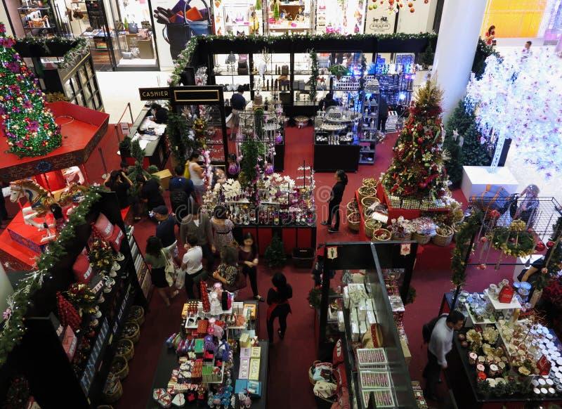 Weihnachtseinkaufen lizenzfreie stockbilder