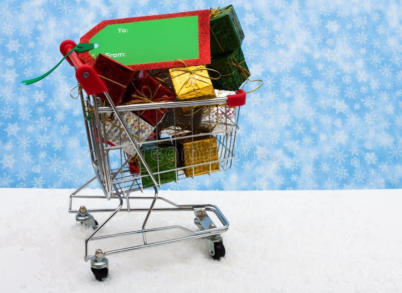 Weihnachtseinkaufen lizenzfreies stockbild
