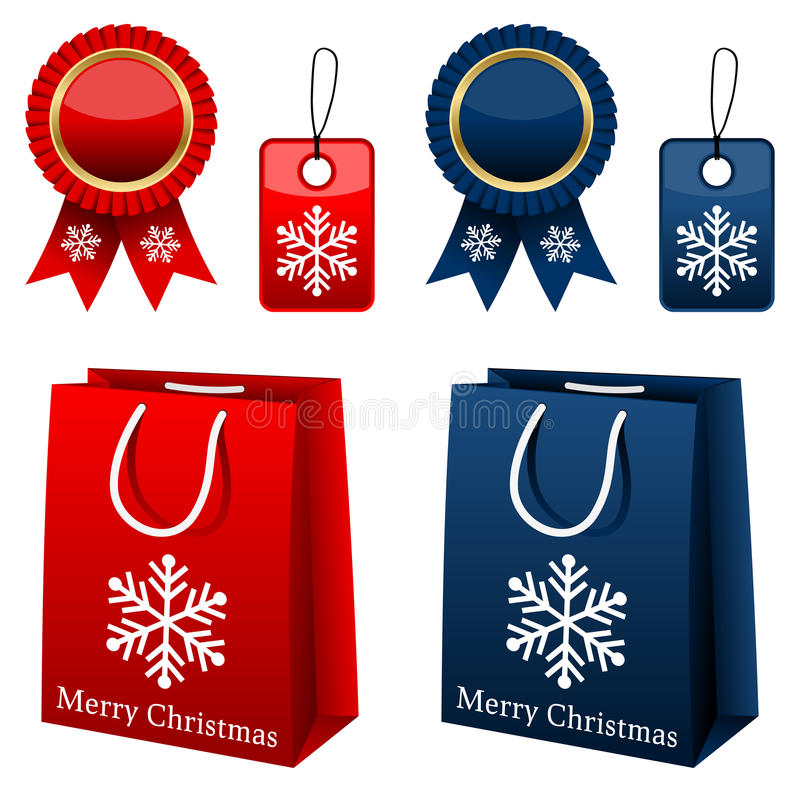 Weihnachtseinkaufen-Ansammlung vektor abbildung