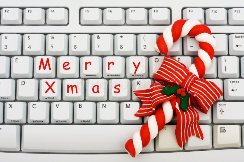 Weihnachtseinkaufen auf dem Internet stockfoto