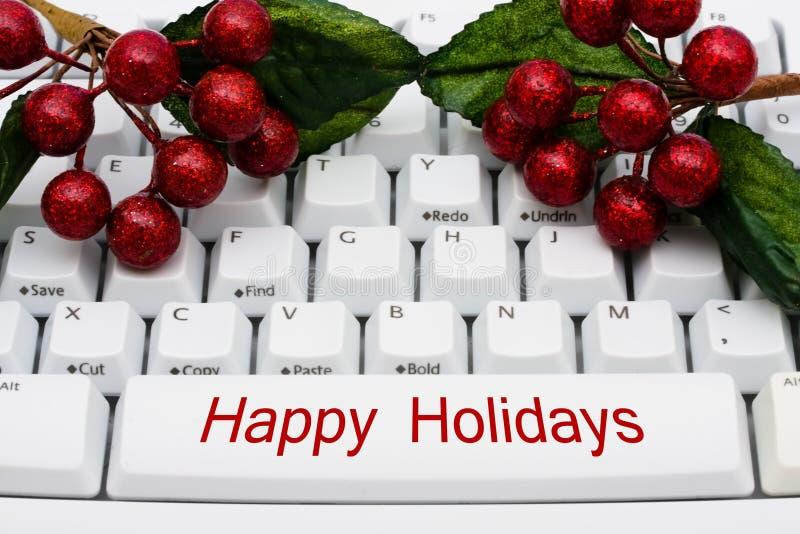 Weihnachtseinkaufen auf dem Internet lizenzfreie stockfotografie