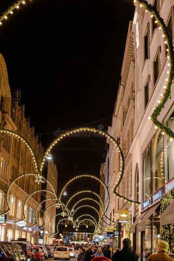 Weihnachtseinkaufen in Hamburg stockfotografie
