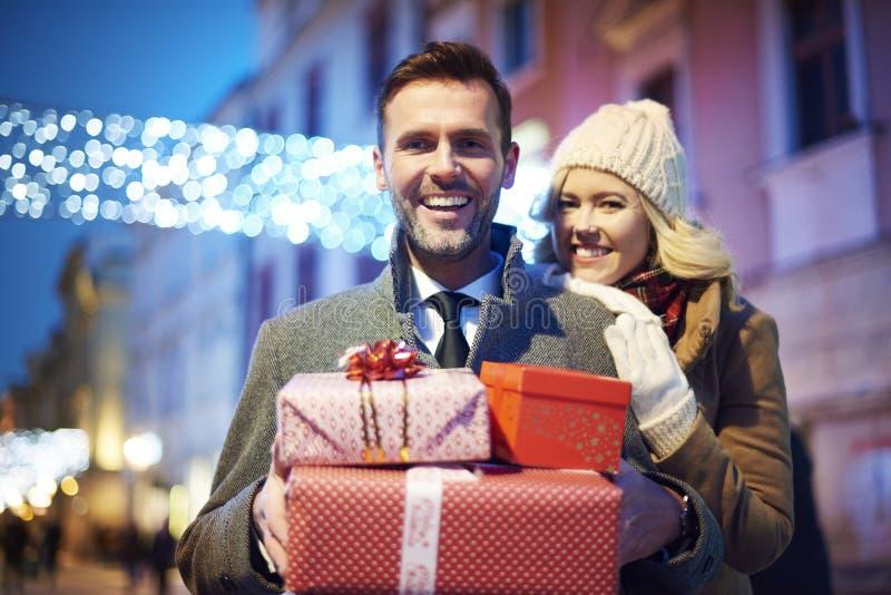 Weihnachtseinkaufen, Idee für Ihre Auslegung lizenzfreies stockbild