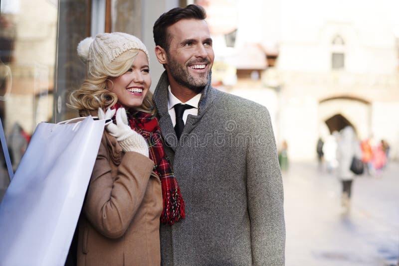 Weihnachtseinkaufen, Idee für Ihre Auslegung stockfoto