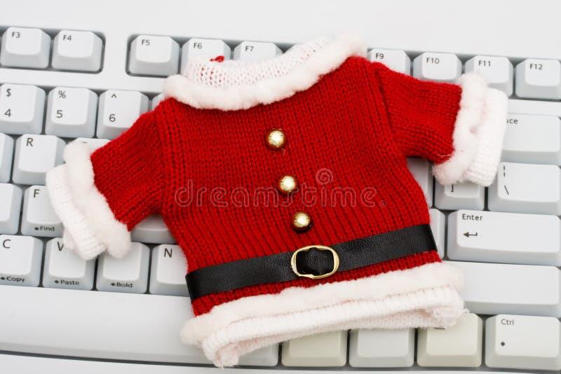 Weihnachtseinkaufen Online stockfotografie