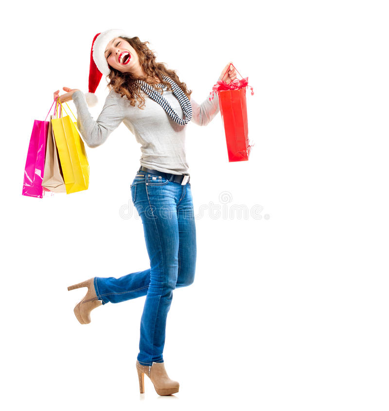 Weihnachtseinkaufen. Verkäufe lizenzfreies stockfoto