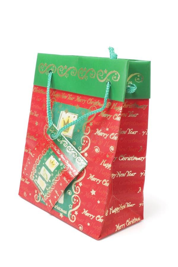 WeihnachtsEinkaufstasche Stockbild