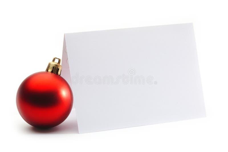 Weihnachtseinladung stockfotografie
