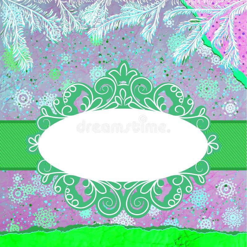 Download Weihnachtseinladung Tempkate Karte. ENV 8 Vektor Abbildung - Illustration von fahne, verzierung: 27735096