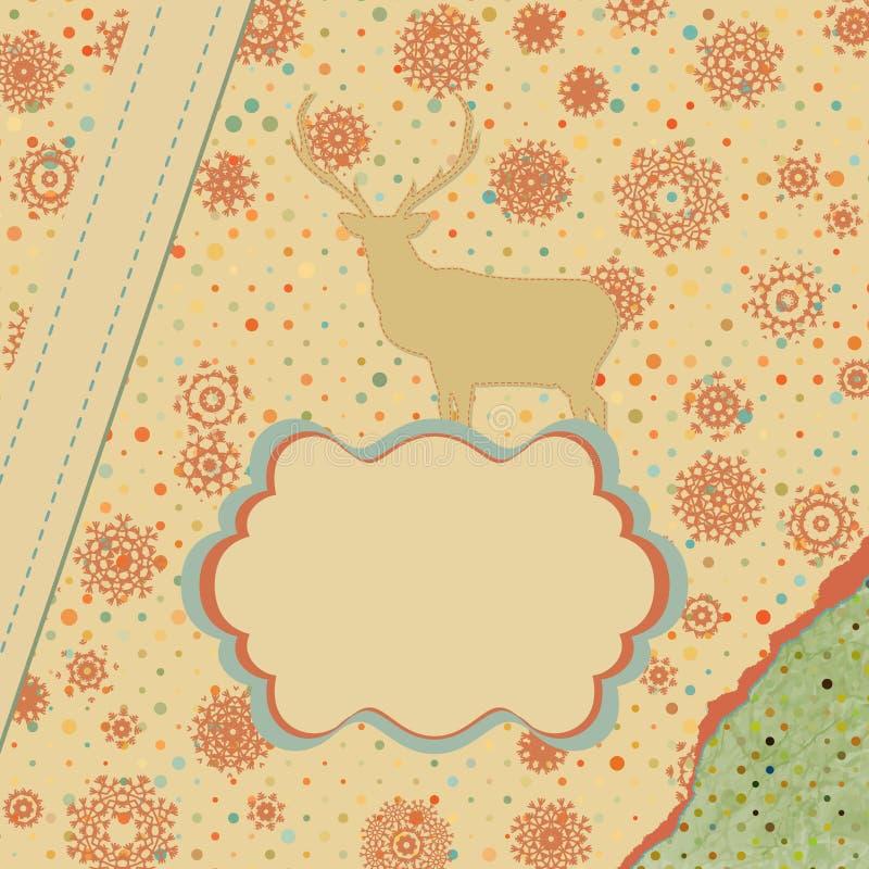 Download Weihnachtseinladungs-Kartenschablone. ENV 8 Vektor Abbildung - Illustration von auszug, grunge: 27734948