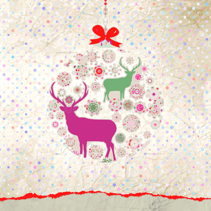 Download Weihnachtseinladungs-Kartenschablone. ENV 8 Vektor Abbildung - Illustration von deco, verzierung: 27735051