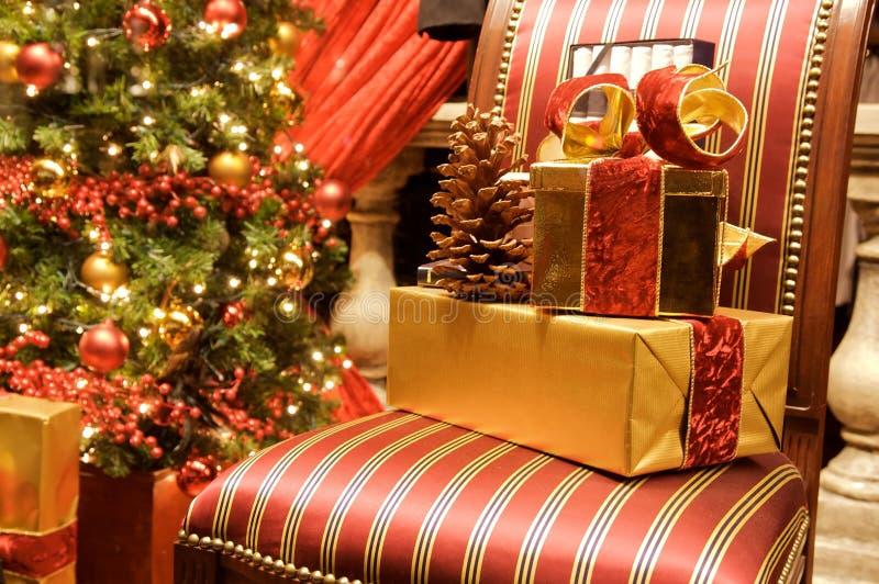 Weihnachtseinstellung stockfoto