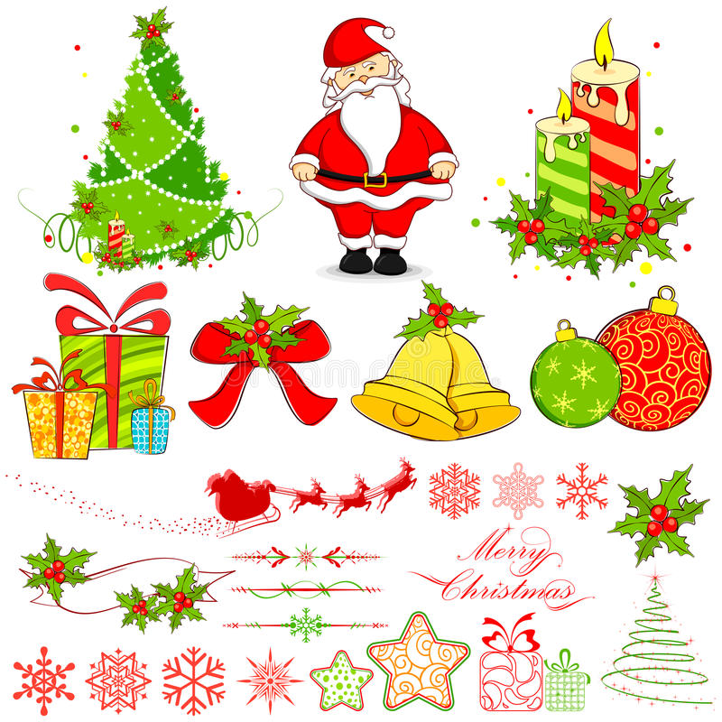 Weihnachtselement lizenzfreie abbildung