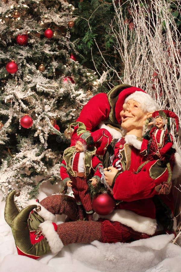 Weihnachtself stockfotos