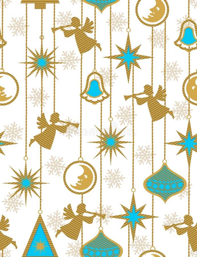 Weihnachtsengel - nahtloses Muster stock abbildung