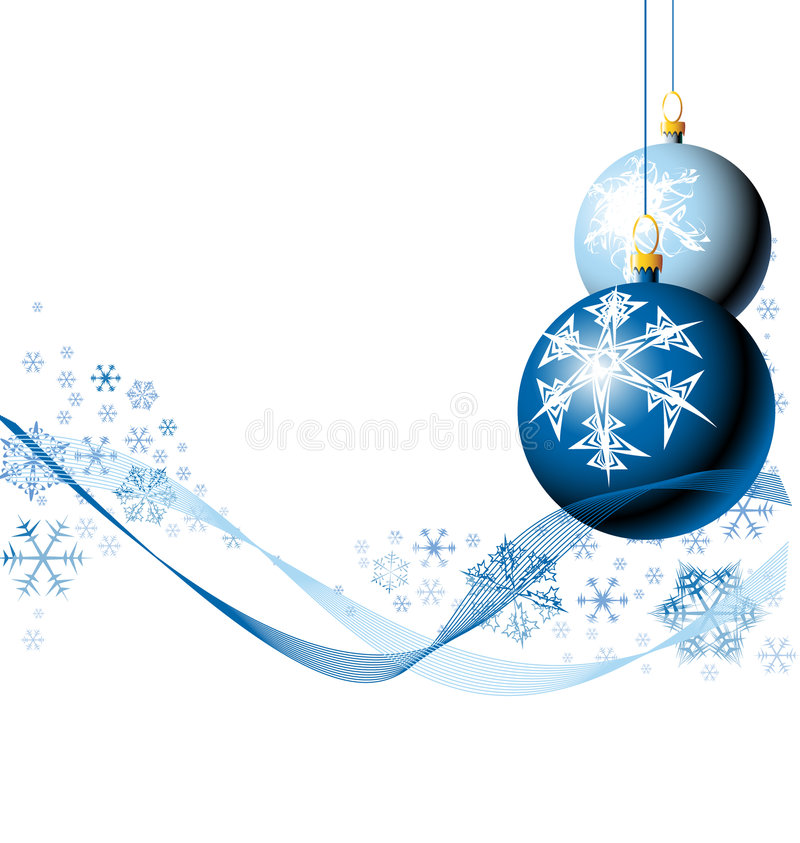 Weihnachtsfühler Mit Schneeflocken Stockfotos