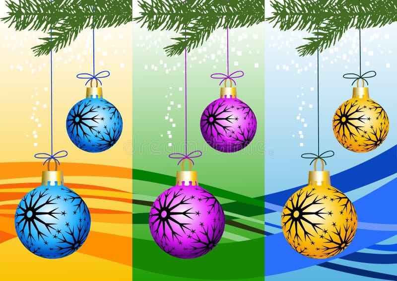Weihnachtsfahne vektor abbildung