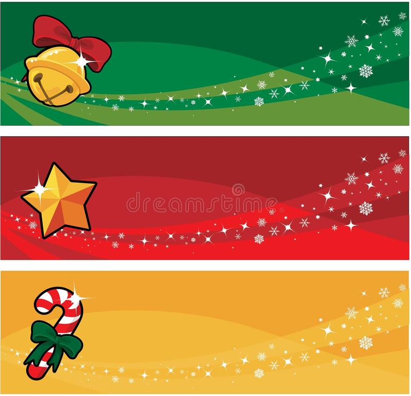 Weihnachtsfahne lizenzfreie abbildung