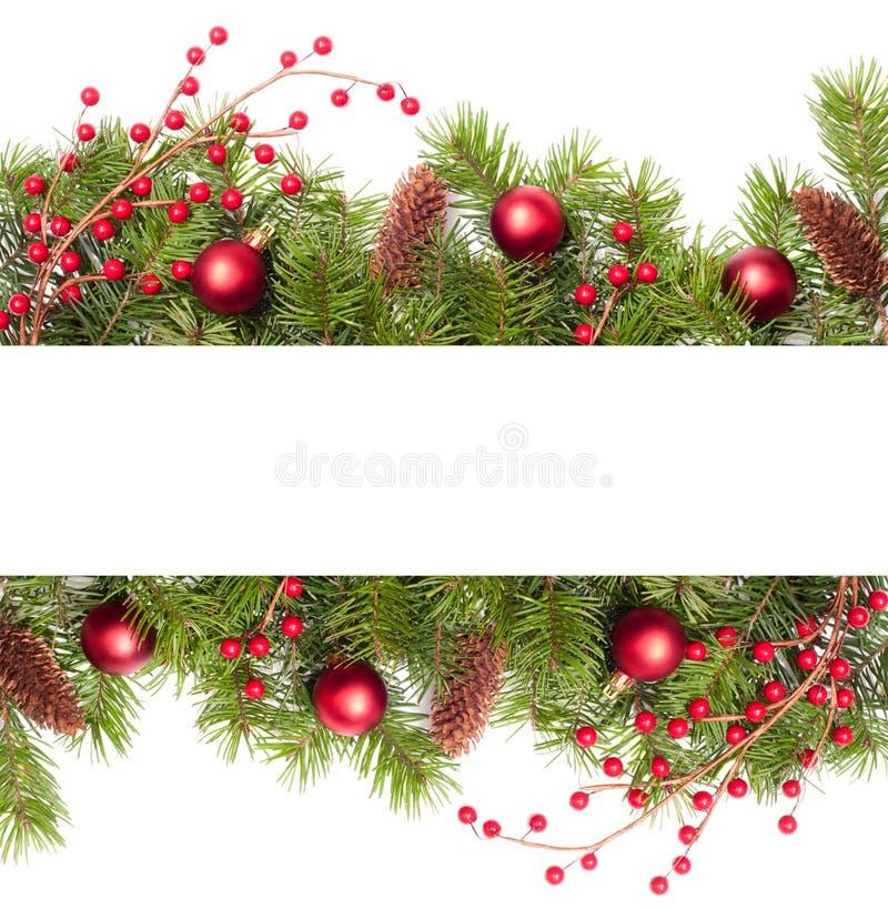 Weihnachtsfahne stockbild