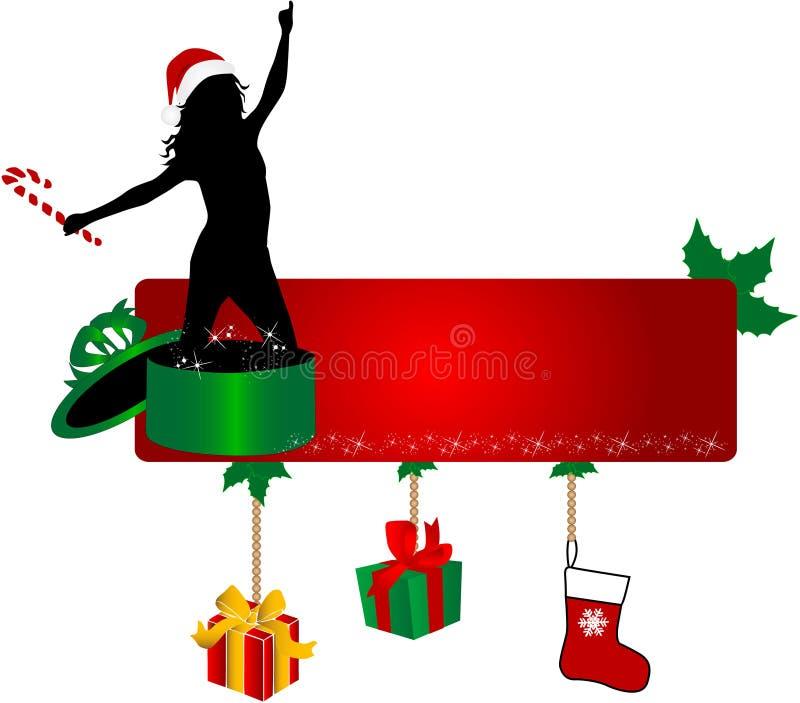 Weihnachtsfahne stock abbildung