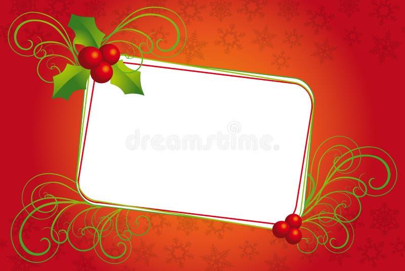 Weihnachtsfahne mit Mistel vektor abbildung