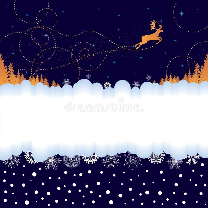 Weihnachtsfahne mit Ren lizenzfreie abbildung