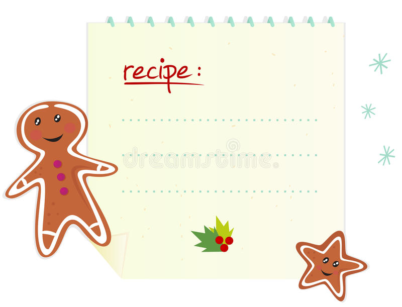 Weihnachtsfahne/-rezept mit Leerzeichen lizenzfreie abbildung