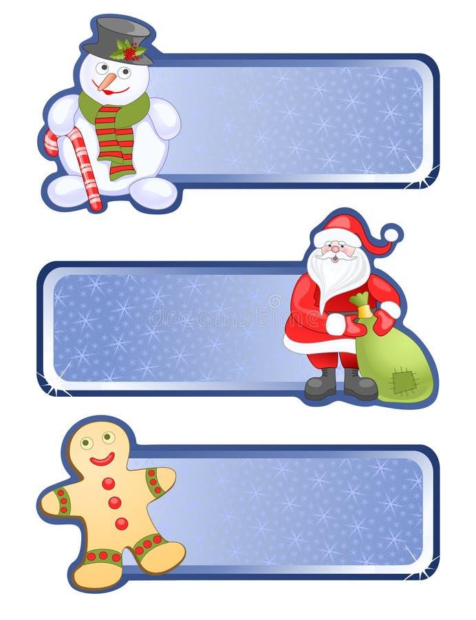 Weihnachtsfahnen lizenzfreie abbildung