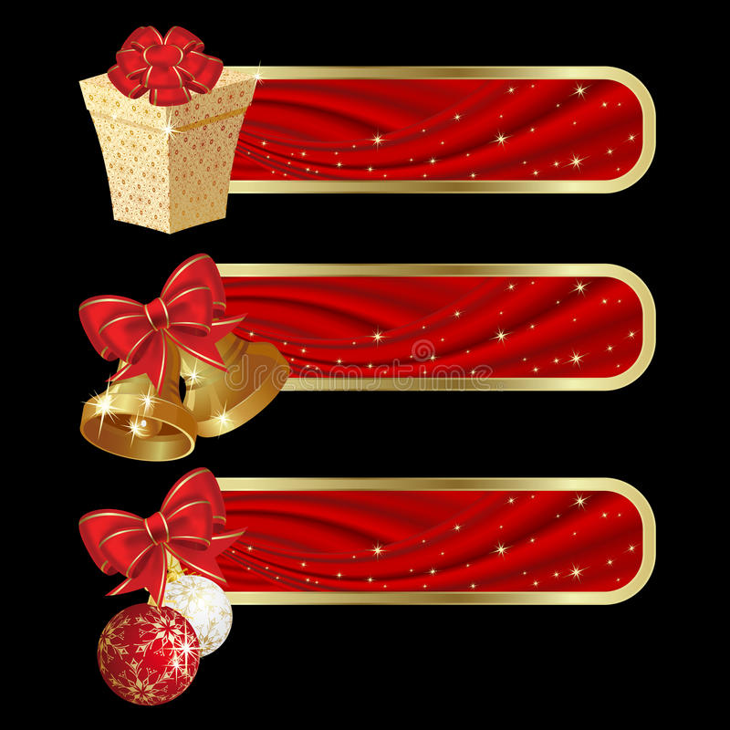 Weihnachtsfahnen stock abbildung