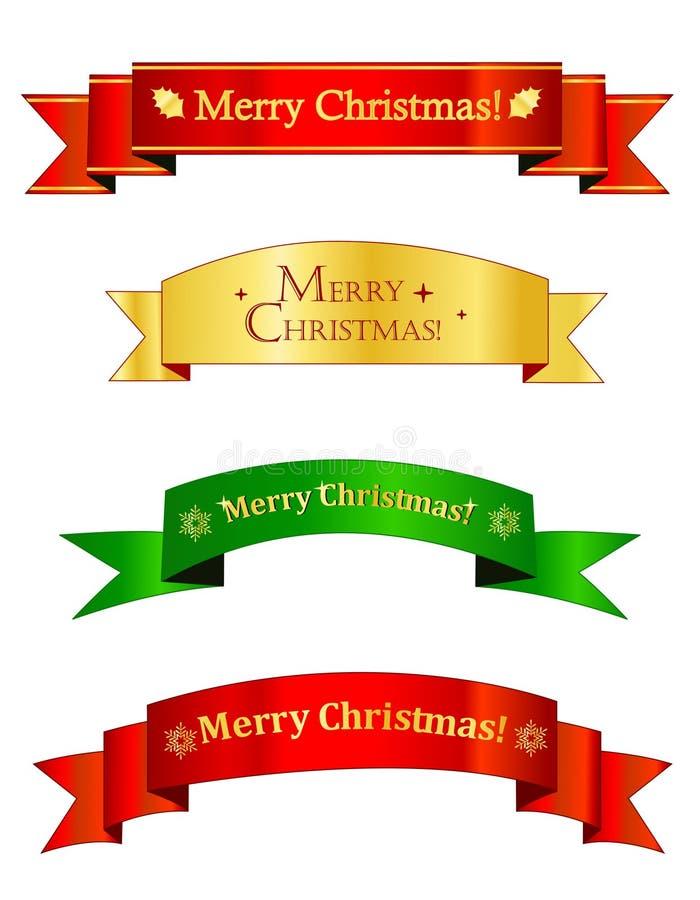 Weihnachtsfahnen/Fahne lizenzfreie abbildung