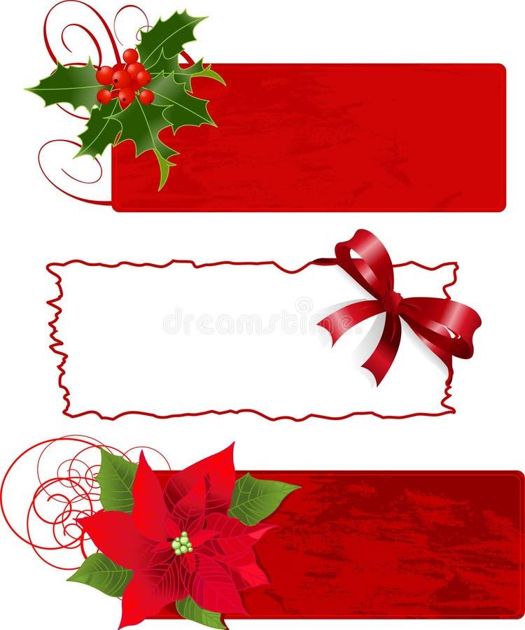 Weihnachtsfahnen (Felder) lizenzfreie abbildung